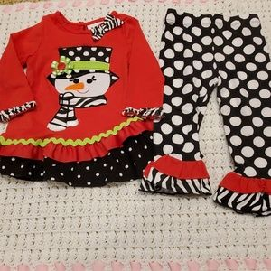Rare Editions baby girl outfit. 18mo